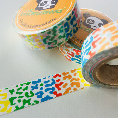 Washi Tape Bright Animal Print 15Mm X 10Mtr Planner Craft Wrap Scrap Mail Art