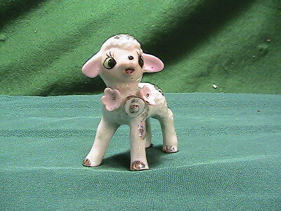 Beautiful Vintage Porcelain/Ceramic Popcorn-Textured Lamb 1950's(?)