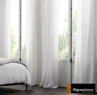 Clearance-320cm Drop-charcoal Southport Montego Linen Look Sheer Curtain Fabric Window Treatments & Hardware