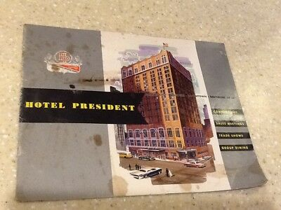 1960s Hotel President-Kansas City, MO-Full Information Brochure/Booklet-PHOTOS