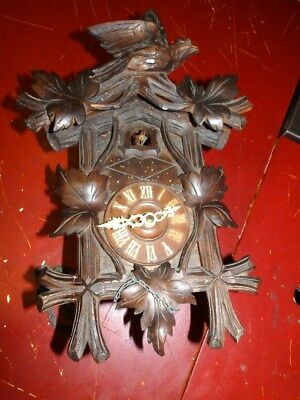Old Black Forest Cuckoo  Clock Only For Parts  Not Complete