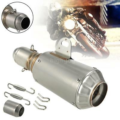 38-51mm Universal Motorcycle Motorbike Exhaust Muffler Silencer Stainless Steel