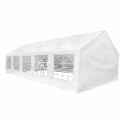 32' x 16' White Outdoor Gazebo Canopy Wedding Party Picnic Tent Removable Walls