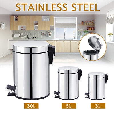Stainless Steel Rubbish Bin Pedal Motion Sensor Waste Automatic 3L 5L 20/30L AU