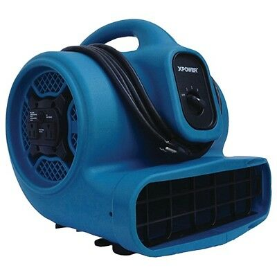 XPOWER X-400A 1,600cfm 3-Speed Commercial Air Mover/Carpet Dryer/Floor Blower...