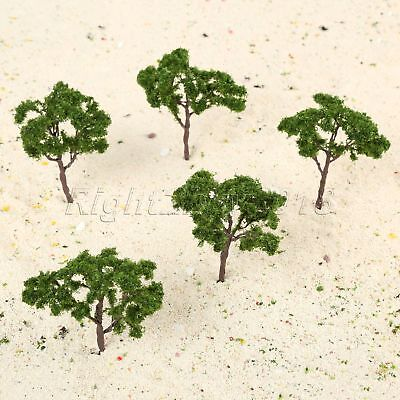 "5x Trees Model 3.94"" Dark Green Train Railroad Wargame Diorama Scenery Landscape"