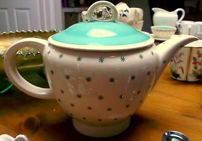 Early Susie Cooper Turquoise Stars Art Deco Small Teapot