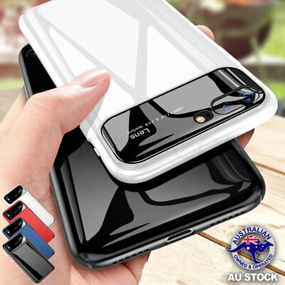 Shockproof Glossy Mirror Case Hard PC Slim Thin Cover For S9 iPhone X 8 7 6 Plus