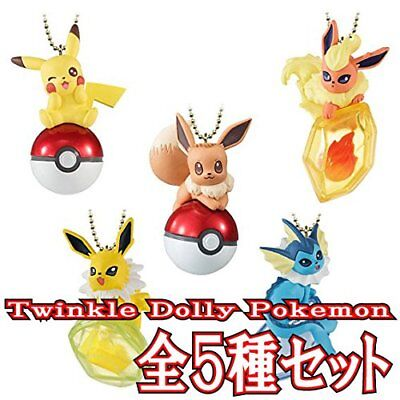 Shokugano Twinkle Dolly Pokemon 【Full set of all 5 kinds 】 PRE-ORDER From Japan
