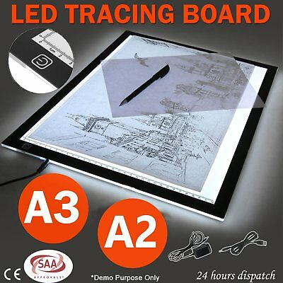 A2 A3 LED Slim Art Craft Drawing Tracing Tattoo Light Box Pad Board Lightbox GM