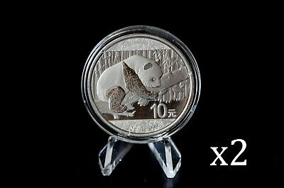2016 30gram 30g Silver China Chinese Panda Bullion Coin x2