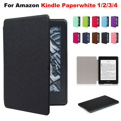 For Amazon Kindle Paperwhite 2018 Slim Smart Leather Flip Magnetic Cover Case