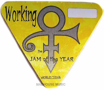 PRINCE Tour PASS Jam Of The Year 1997 YELLOW Working PROMO made by Perri UNUSED