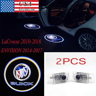 2x Car Door LED Logo Laser Projector Welcome Light For Buick LaCrosse & ENVISION