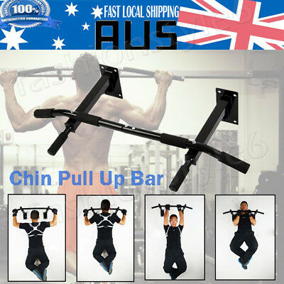 Chin Pull Up Bar Wall Mounted Gym Suspension Exercise Door Fitness Training Bar