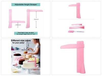 Cake Scraper Buttercream Smoother, CAVN Adjustable Cake Edge Smoother Scraper To
