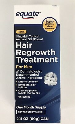 Equate Hair Regrowth Treatment for Men Minoxidil Topical Aerosol 5% Foam 2.11OZ