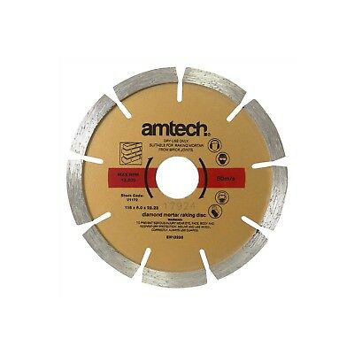 "Mortar Raking Disc. Diamond pointing Raker Disc 115mm 4.5"" angle grinder Blade"