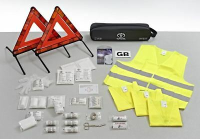 Genuine Toyota European Travel Car Safety Kit Combi Bag - PZ49S-02EA0-EU
