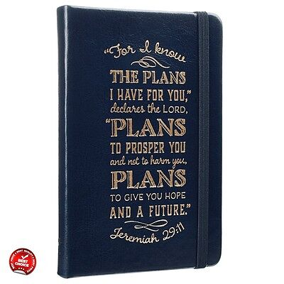 Bible Journal Notebook Leather Diary Notepad Prayer Scripture Daily Devotions Je