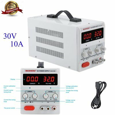 Variable Linear Adjustable Digital Lab DC Bench Power Supply 0-30V 0-10A SY