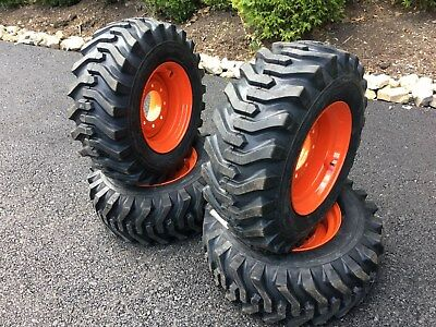 4 NEW CAMSO sks332 12X16 5 Skid Steer Tires & Wheels/Rims for Bobcat -  12-16 5