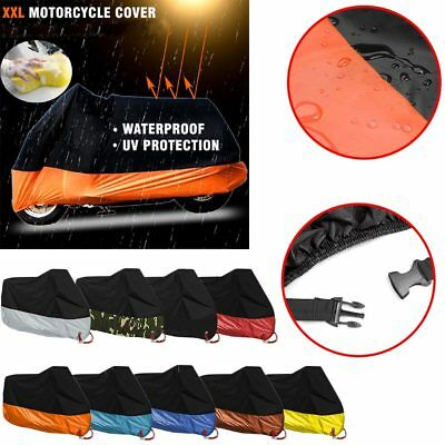 XXL Motorcycle Motorbike Scooter Waterproof UV Dust Protector Anti Rain Cover LA