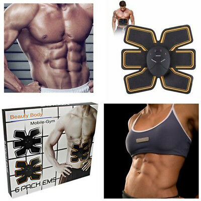 Beauty Body Mobile Gym 6 Pack EMS Electric Shaper Abdominal Muscle Building Suit