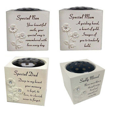 Loving Memorial Flower Vase Grave Pots Rose Bowl for Various Ornament Relatives