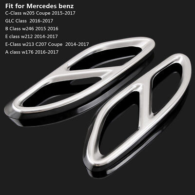 Exhaust Muffler Pipe Tip Cover Trim for Mercedes W205 Coupe W246 W212 W213 W176