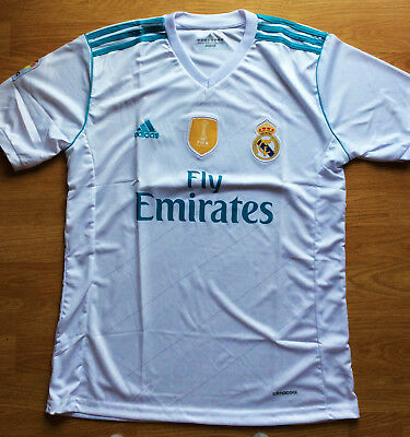 Real Madrid FC HOME Mens Adult PLAIN Jerseys Shirts 2017-18 STOCK CLEARENCE !!