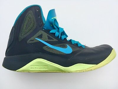 best service 95257 7509d ... men s nike dual fusion running basketball shoes black blue size 8 610202  007 ...