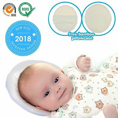 """8.6"""" Baby Pillow Infant Head Neck Support to Prevent Flat Head Plagiocephaly for"""