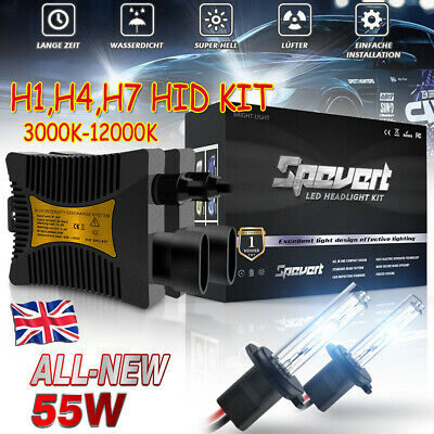 55W HID Xenon LED Conversion Kit Hi/Lo Canbus Error Free Headlight H1 H4 H7