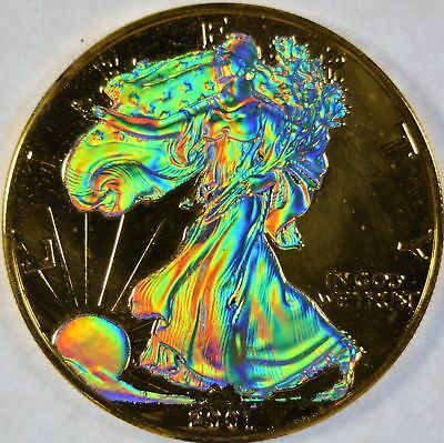 2001 Hologram Silver American Eagle ( DOUBLE SIDED ) BEAUTIFUL :