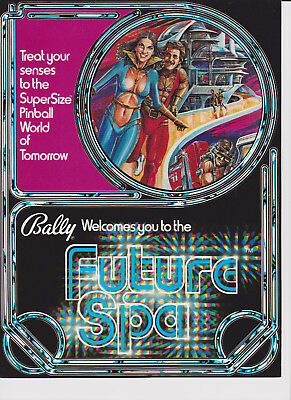 BALLY Future Spa pinball flyer brochure pamphlet BRAND NEW. Year 1979.