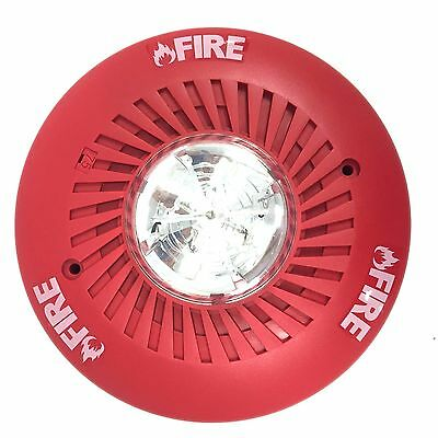 Select-A-Strobe SL24C-3075110R Amseco Ceiling Strobe Horn, Red