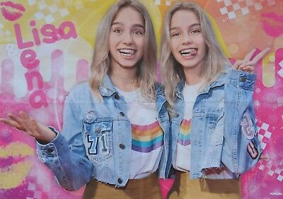 LISA & LENA - A2 Poster (XL - 42x55 cm) - Clippings Fan Sammlung NEU