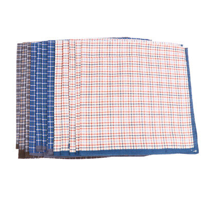 12Pcs 100% Pure Cotton Mens Handkerchiefs Pocket Square Hanky Classic Design