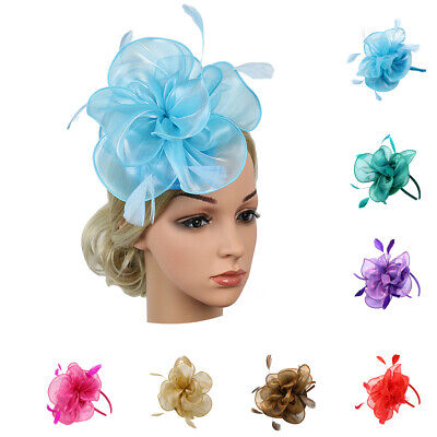 Prettyia Vintage Wedding Ascot Races Feather Mesh Fascinator  Side Hat