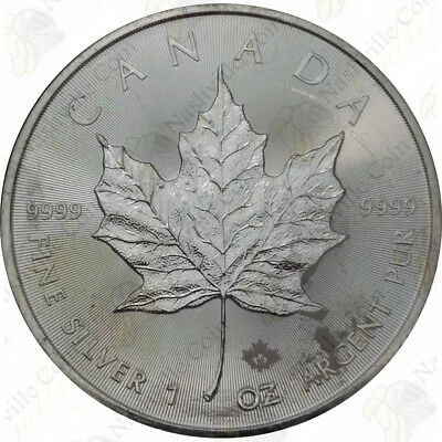 Canada 1 oz silver Maple Leaf -- random date (IMPAIRED) -- SKU #11999