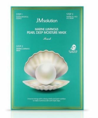 *NEW*JM Solution Marine Luminous Pearl Deep Moisture 3 Step Mask 10 pcs