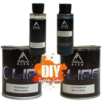 Alsa Eclipse Heat Changing Black to White / Blue to White 4oz & 1 Pint Basecoat