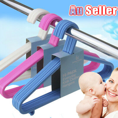 30pcs 60pcs Kids Children Baby Plastic Trousers Hangers Hook Coat Clothes