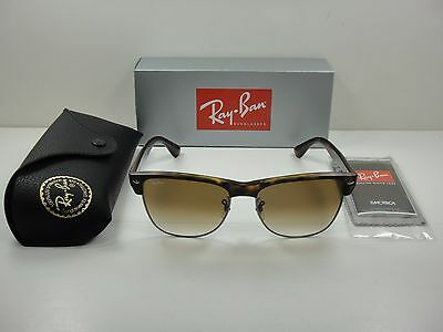 1910f911e51 Ray-Ban Clubmaster Oversized Sunglasses Rb4175 878 51 Tortoise brown Lens  57Mm