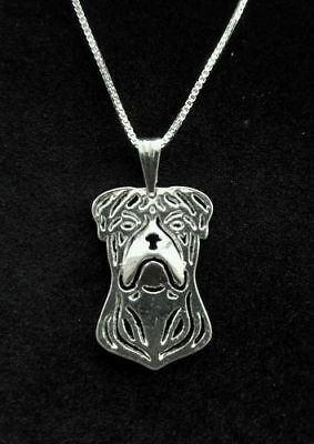 Americah Bulldog, Dog Cute necklace 18""