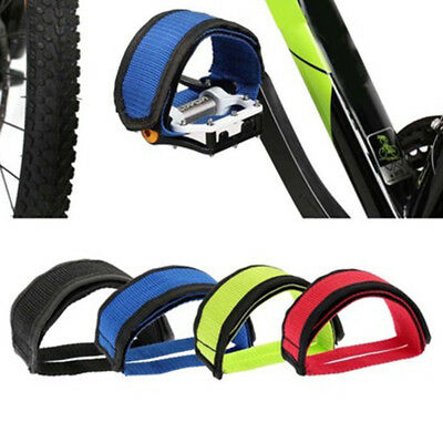 KF_1Pc Fixed Gear Bicycle Anti-slip Pedal Strap Double Adhesive Toe Clip Belt