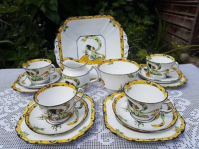 Melba Dolly Varden pattern Rd 139443 tea service