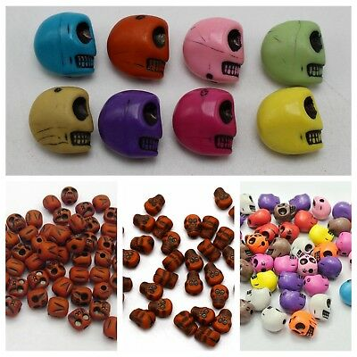 Craft DIY Halloween Gothic Skeleton Skull Acrylic Beads Various Shape 9mm-13mm