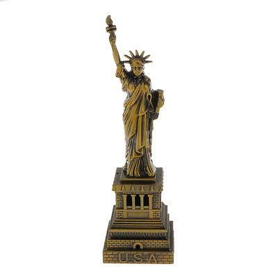 Metal Craft Souvenir The Statue of Liberty Model for Home/Caffee Decor 18cm